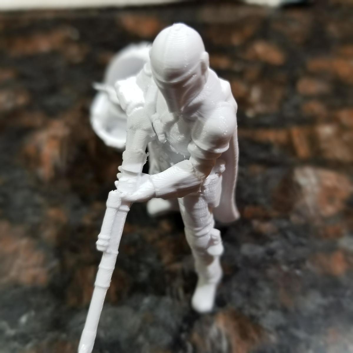 Figurine 3D printed using FDM method