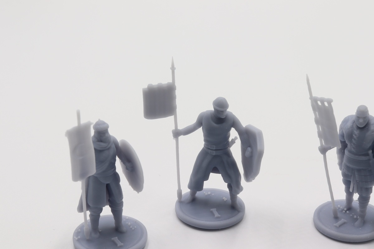 Miniatures 3D printed using Resin