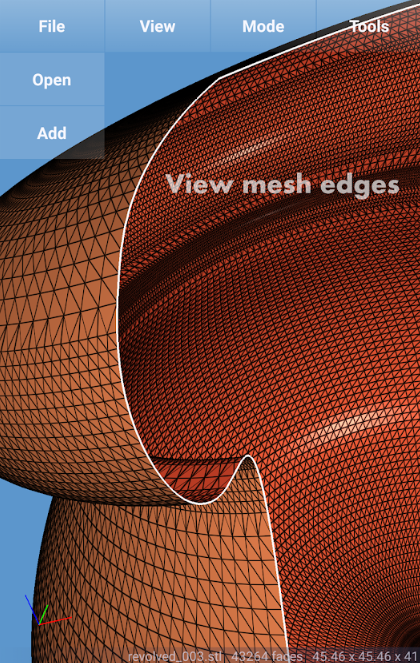 View mesh edges