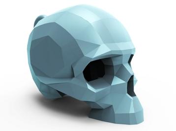Faceted Skull Pendant