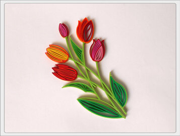 Quilling 'Tulips'
