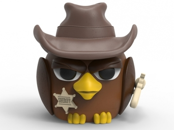 Sheriff Bird piggy bank