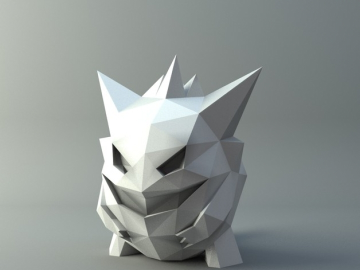 Gengar Low-poly Pokemon — The Best model of the month for August