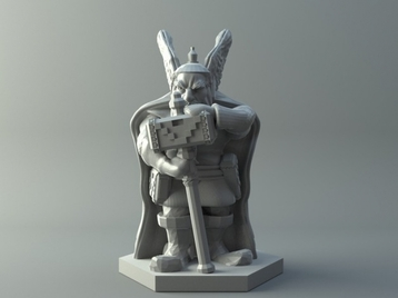 Dwarven warrior - D&D miniature
