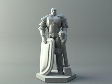 Human soldier - D&D miniature