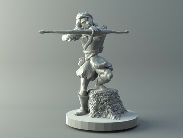 Female archer - D&D miniature